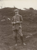 Gentleman in His Plus-Fours Ready to Play a Game of Golf