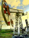 Oil Wells Against Blue Sky