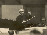 Arturo Toscanini Italian Conductor Known for His Dynamic Style Conducting in 1936