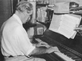 Albert Schweitzer French Theologian Philosopher Missionary Physician and Music Scholar Playing Bach