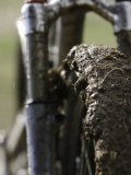 A Muddy Mountain Bike Tire  Mt Bike