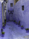 Blue Walkway  Morocco