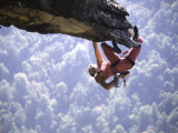 Climber on Edge of Rock  USA