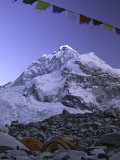 Mount Nuptse from Everest Base Camp  Nepal
