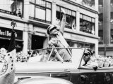 General Dwight D Eisenhower in Parade  1945