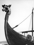 The Figurehead of the Viking Longship &quot;Hugin&quot; at Pegwell Bay Kent England