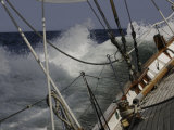 Sailboat in Rough Water  Ticonderoga Race