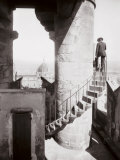 Staircase of the Tower of Palazzo Vecchio in Florence in the Background the Dome of the Cathedral