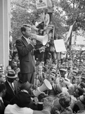 Attorney General Bobby Kennedy Speaking to Crowd in DC