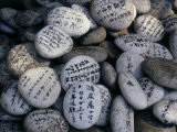 Prayer on Stones at the Feet of a Buddha (Senyu-Ji)  Japan