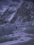 Khumbu Ice Fall and Everest Landscape  Nepal