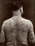 Portrait of a Man's Tattooed Back