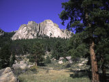Rock Formation Called the Book in Estes National Park  Colorado