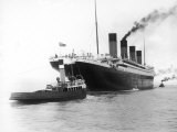 The Titanic Leaving Belfast Ireland for Southampton England for Its Maiden Voyage New York Usa
