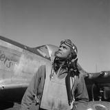 Col Benjamin O Davis  Air Base at Rametti  Italy  1945