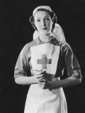 Portrait Photograph of a Rather Angelic Nurse with a Serene Face