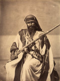 Full-Length Portrait of a Young Bedouin in Ethnic Costume
