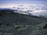 Glacier Near Mountain Summit  Kilimanjaro