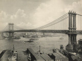 Manhattan Bridge Crossing the East River  New York