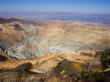 Pit Mine of Kennecott Copper  Oquirrh Mountains  Utah  USA