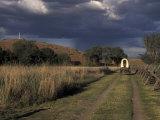 Covered Wagon on Oregon Trail  Lewis and Clark Trail  Whitman Mission  Walla Walla  Washington  USA