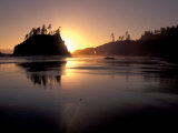 Sunset at Second Beach  Olympic National Park  Washington  USA