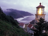 Foggy Day at the Heceta Head Lighthouse  Oregon  USA
