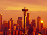 Seattle Skyline and Space Needle  Washington  USA