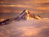 Aerial of Mt Hood  Oregon Cascades  USA