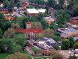 Aerial View of Whitman College Campus in Walla Walla  Washington  USA