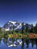 Mount Shuksan at Picture Lake  Heather Meadows  Washington  USA