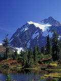 Mount Shuksan and Picture Lake  Heather Meadows  Washington  USA