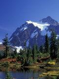 Mount Shuksan and Picture Lake  Heather Meadows  Washington  USA
