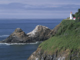 Heceta Head Lighthouse and Seastacks  Cape Sebestian  Oregon  USA