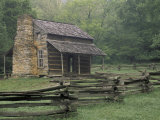 John Oliver Cabin in Cades Cove  Great Smoky Mountains National Park  Tennessee  USA