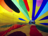 Interior View of an Inflating Hot Air Balloon  Washington  USA