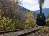 Steam Locomotive of Heber Valley Railroad Tourist Train  Wasatch-Cache National Forest  Utah  USA