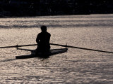 Rower in Portage Bay  Seattle  Washington  USA