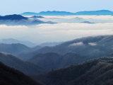 Winter View of Thomas Divide  Great Smoky Mountains National Park  North Carolina  USA
