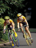 Bicycle Racers at Volunteer Park  Seattle  Washington  USA