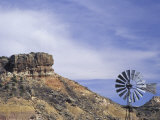 Windmill and Cliffs of Palo Duro Canyon State Park  Texas  USA
