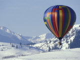 Hot Air Ballon and the North Cascade mountains  Methow Valley  Washington  USA