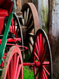 Wagon Wheels  Pioneer Homestead  Great Smoky Mountains  North Carolina  USA