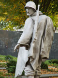 Statue at Korean War Memorial  Washington DC  USA