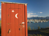 Outhouse and Boat Harbor  Homer  Kenai Peninsula  Alaska  USA