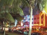 Colorful Street Life  South Beach  Miami  Florida  USA