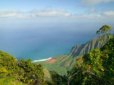 View to Na Pali Coastline  Kokee State Park  Kauai  Hawaii  USA