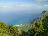 View to Na Pali Coastline  Kokee State Park  Kauai  Hawaii  USA