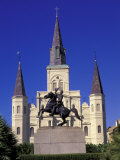 St Louis Cathedral in French Quarter at Jackson Square  New Orleans  Louisiana  USA