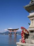 Torii Gate  Itsukushima Shrine  Miyajima Island  Honshu  Japan
